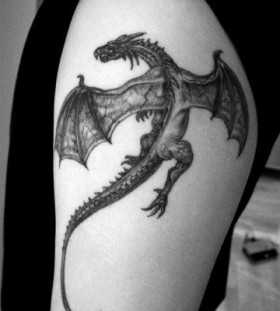 Dragon tattoo  cute black dragon