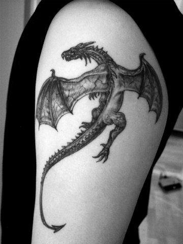 Dragon tattoo  cute black dragon