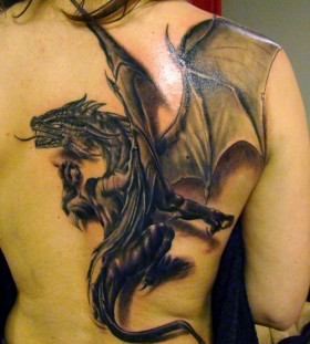 Dragon tattoo on the back