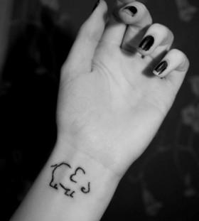 Elephant small tattoo