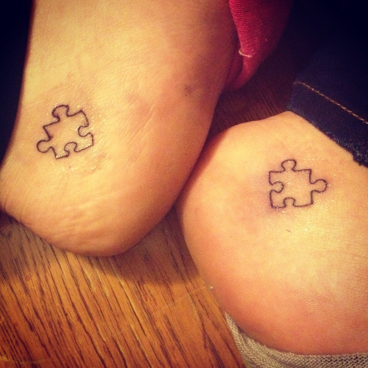 Foot puzzle tattoo