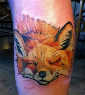 Fox  tattoo by Mel Wink