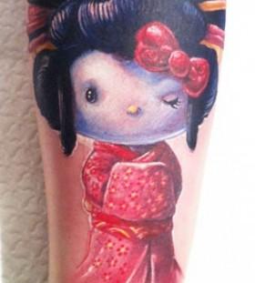 Geisha cartoon tattoos