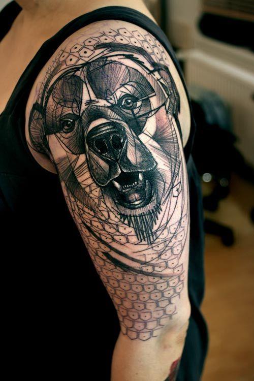 Gorgeous Geometric Tattoo  dog