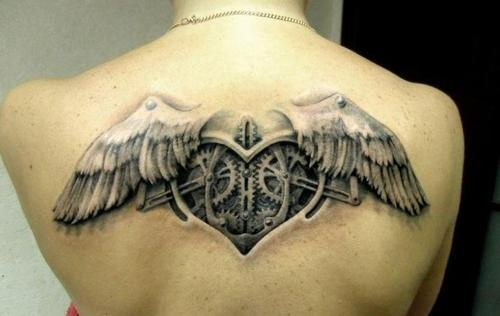 Gorgeous angel wings tattoo