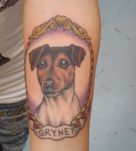 Gorgeous dog tattoo