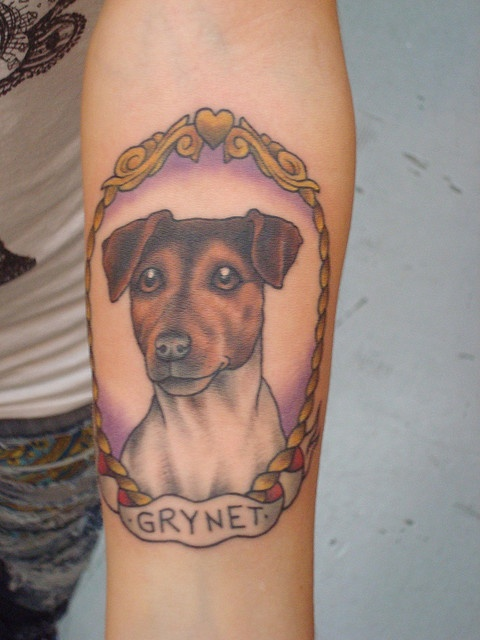 Gorgeous dog tattoo