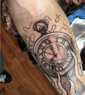 Hand clock tattoo