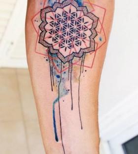 Hand tattoo kompt tattoo