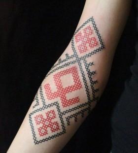 Hand tattoo russian sybolic