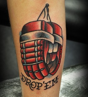 Hockey sport tattoo