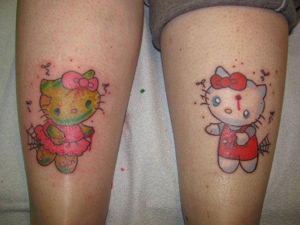 Kitty cartoon tattoos