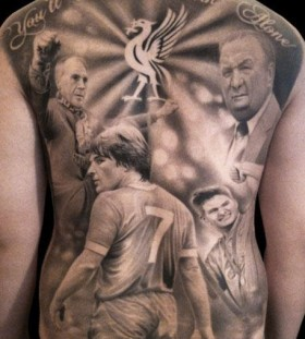 Liverpool team sport tattoo