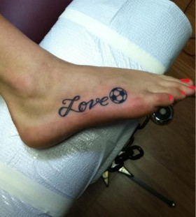Love football sport tattoo