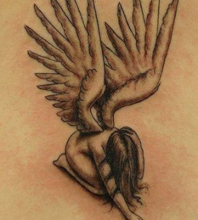 Lovely angel wings tattoo