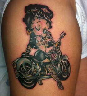 Lovely biker tattoo