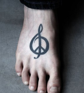 Lovely black symbols tattoo