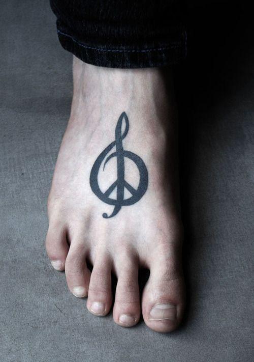 Lovely black symbols tattoo