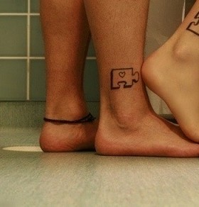 Lovely legs puzzle tattoo
