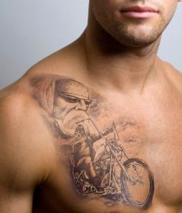 Lovely man biker tattoo