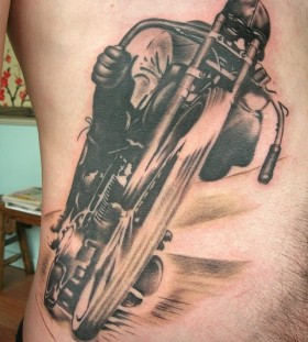 Man biker tattoo