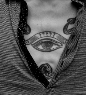 Man eye tattoo