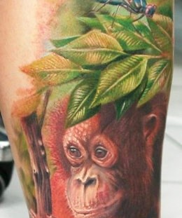 Monkey tattoo by Zhivko Baychev