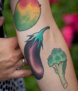 Nice vegetable food tattoo