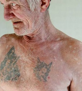 Old man prison tattoos