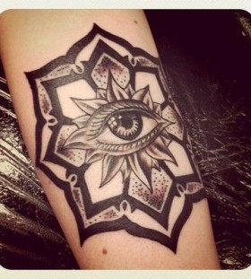 Ornaments eye tattoo