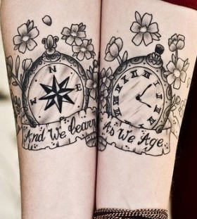 Pretty clock tattoo