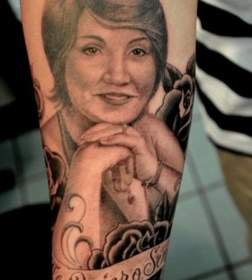 Pretty woman tattoo by Corey Miller