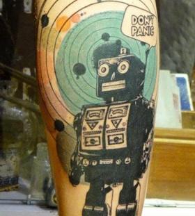 Robots cartoon tattoos