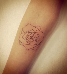 Rose origami tattoo