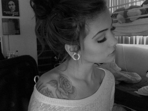 Rose tattoo girl