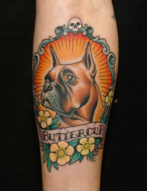 Russ abot dog tattoo