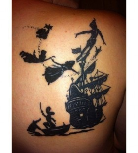 Shoulder Peter Pan tattoo