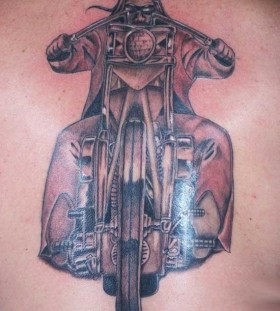 Simple biker tattoo