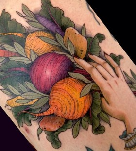 Simple food tattoo
