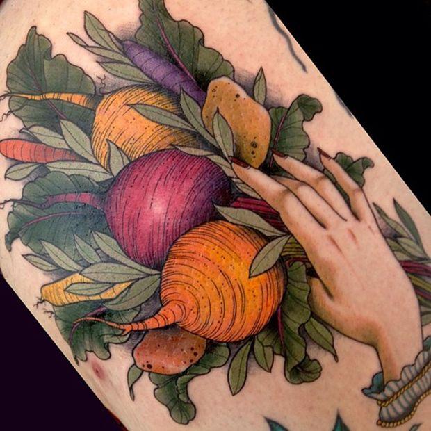 Simple food tattoo