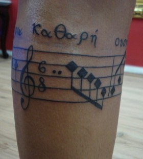 Simple  music tattoo
