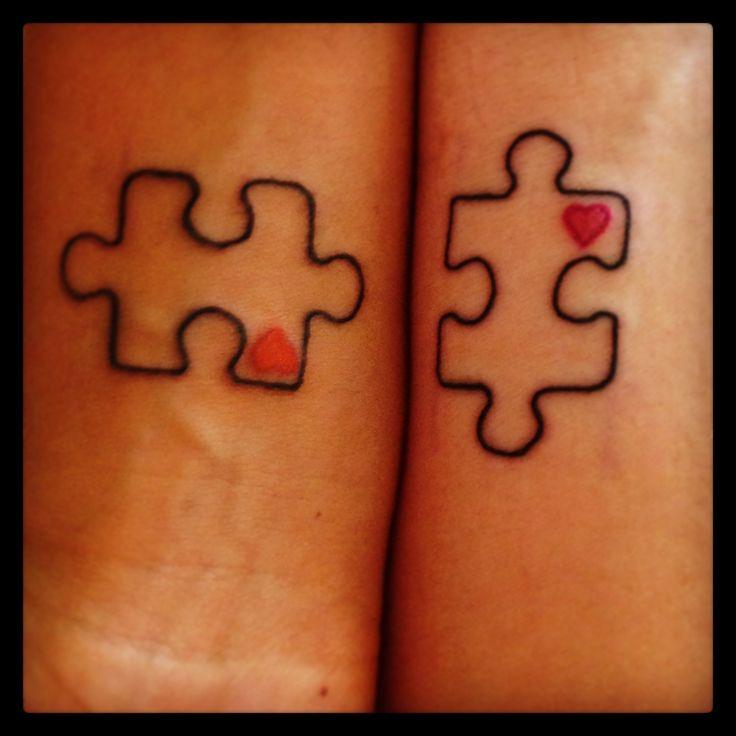 Simple puzzle tattoo