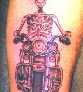 Skull biker tattoo