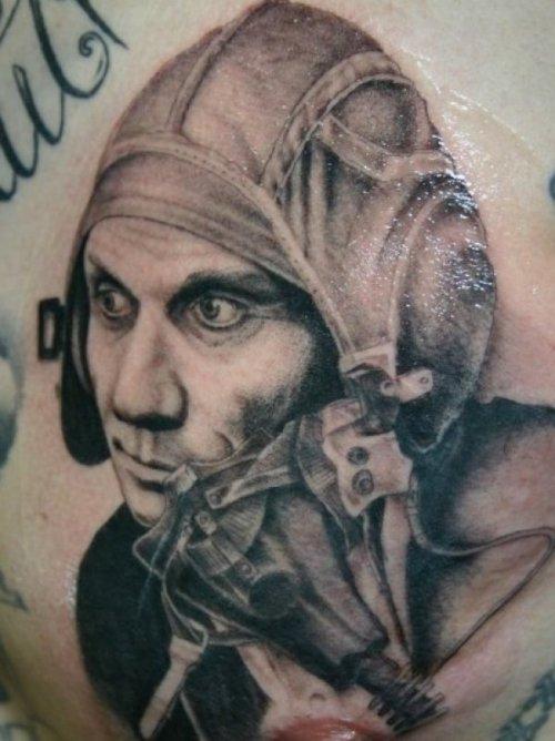 Soldier tattoo by Corey Miller