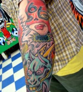 Superman cartoon tattoos
