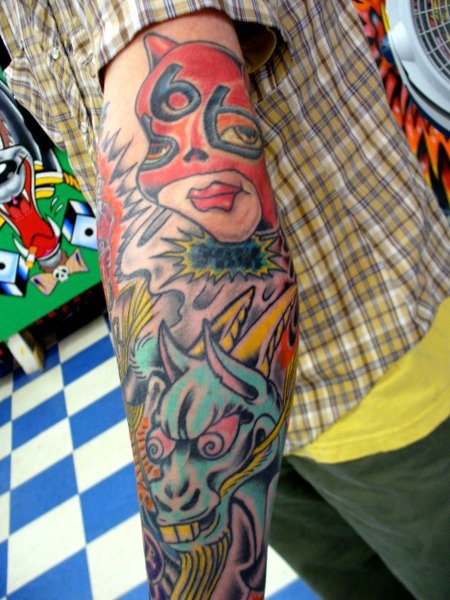 Cartoons tattoo