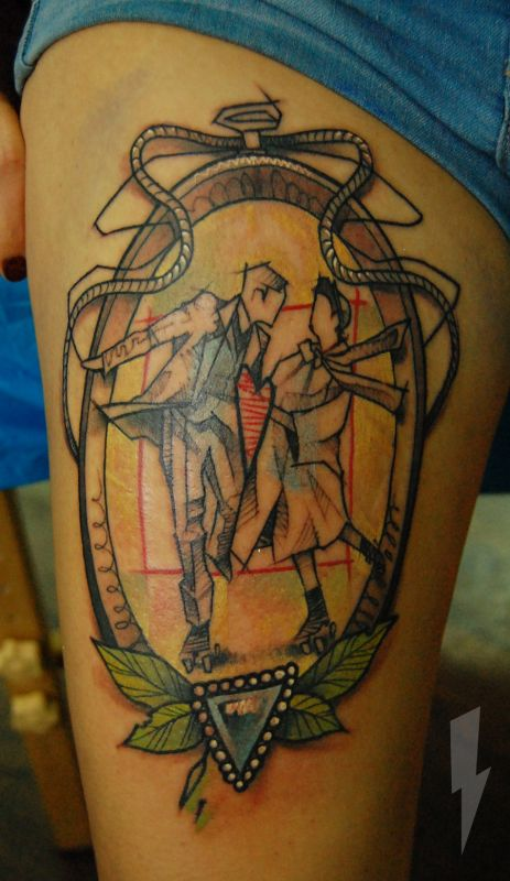 This-love-tattoo-by-Jukan-celebrates-realtionships-and-rollerskates