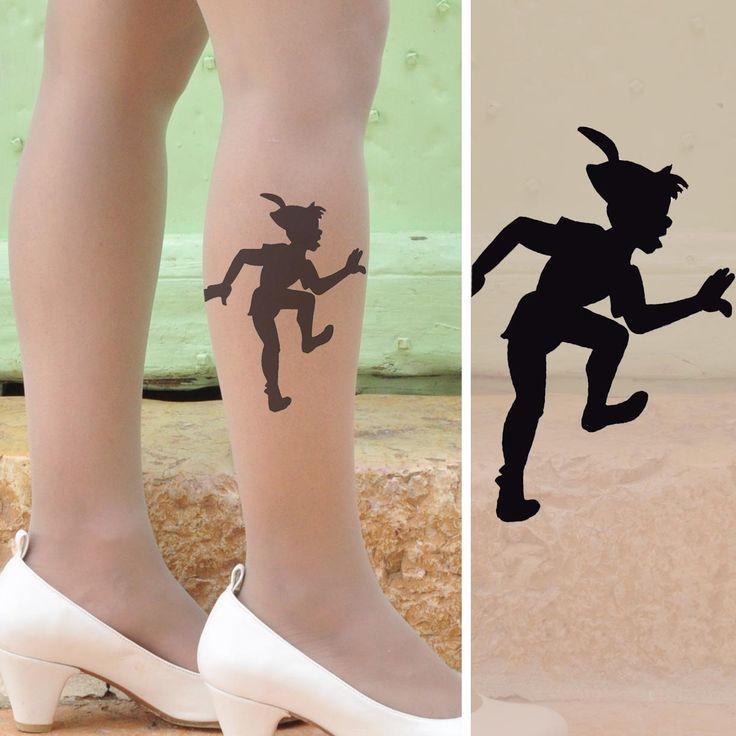 Woman leg Peter Pan tattoo