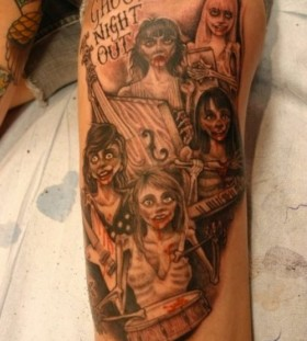 Zombies tattoo by Corey Miller