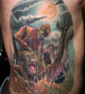 Zombies tattoo by Zhivko Baychev